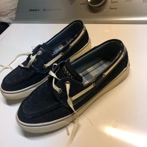 Sperry navy blue loafer / flats